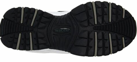 Sketchers has a flexible traction outsole